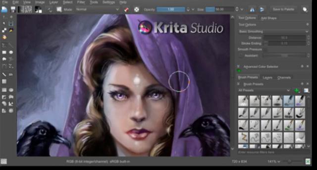 Krita painting