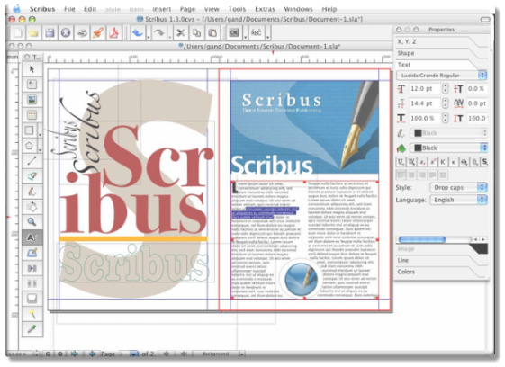 Scribus open source