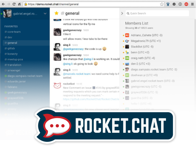 This week's open source application is Rocket.Chat