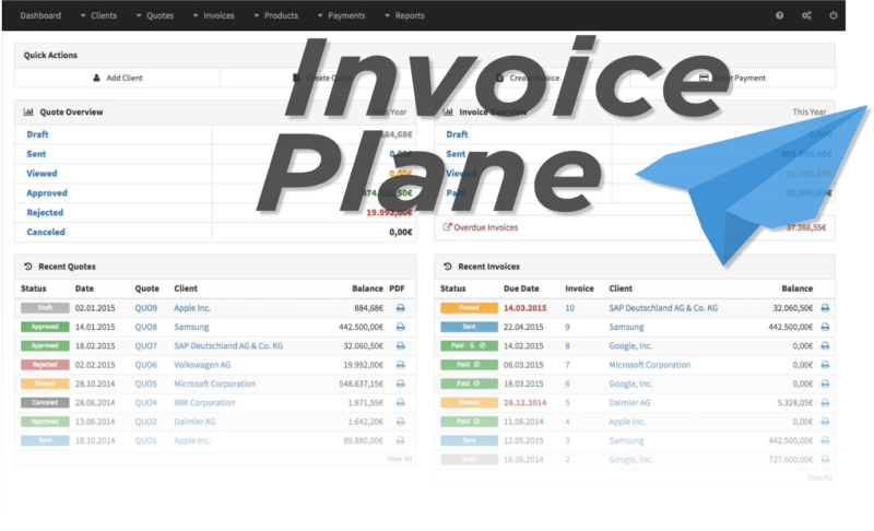 This week's open source application is InvoicePlane